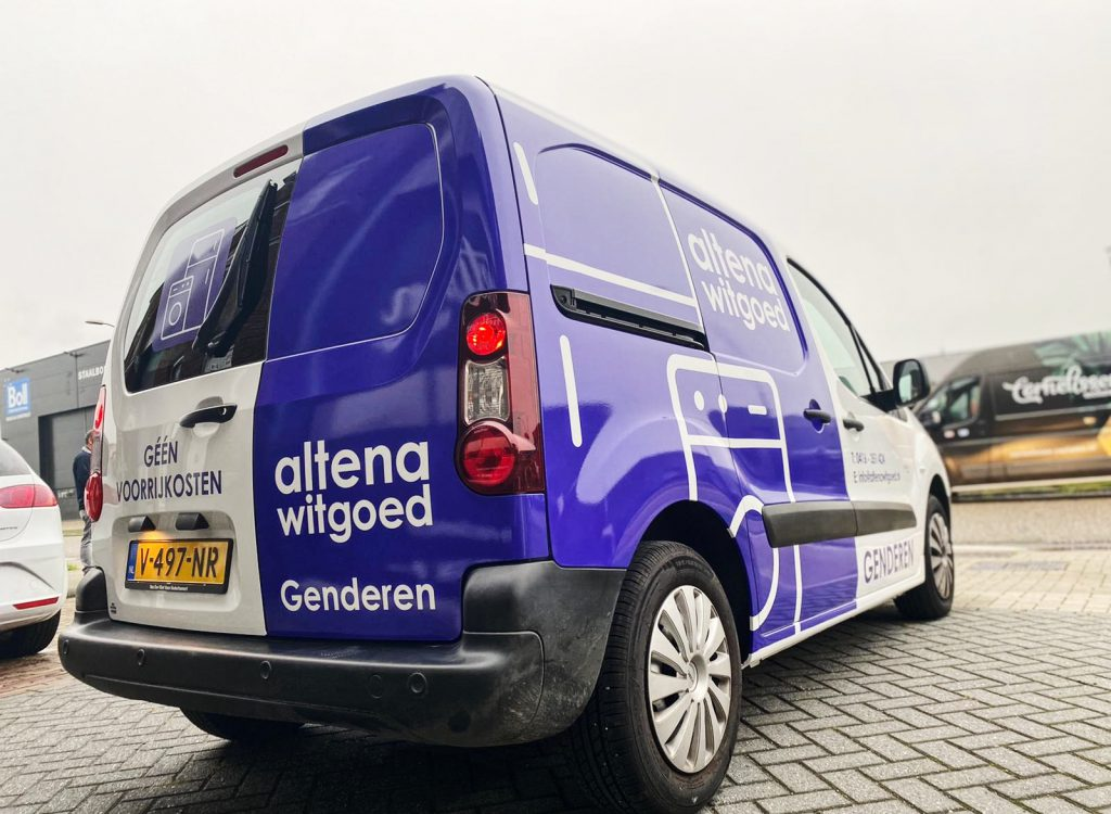 Belettering Altena Witgoed